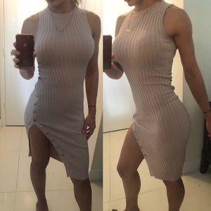Sexy mid dress with a split